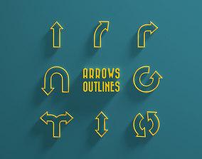 3D model Arrows Outlines
