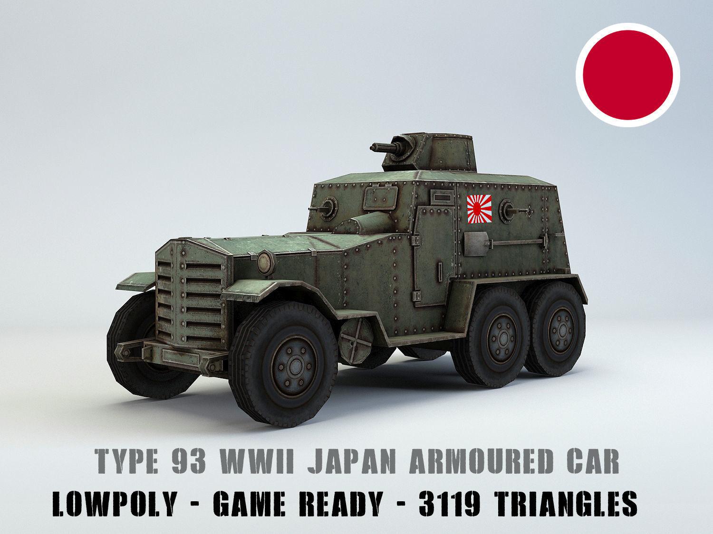 Low Poly Type 93 Kokusan Armored Car
