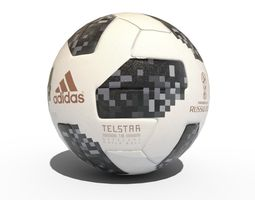 Telstar 2018 World cup Ball Lowpoly 3D model