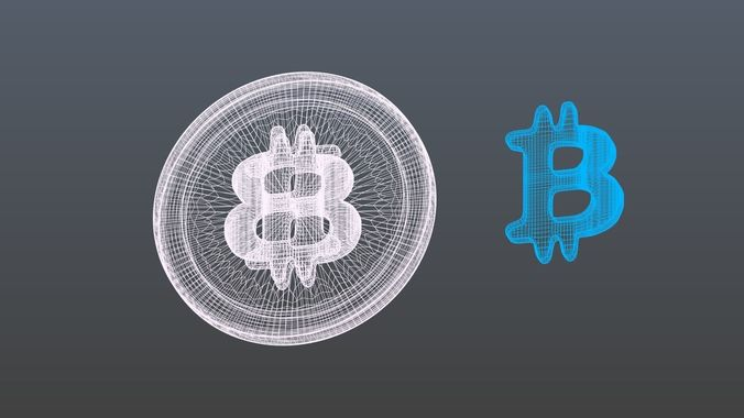bitcoins-3d-model-obj-3ds-fbx-blend-mtl-