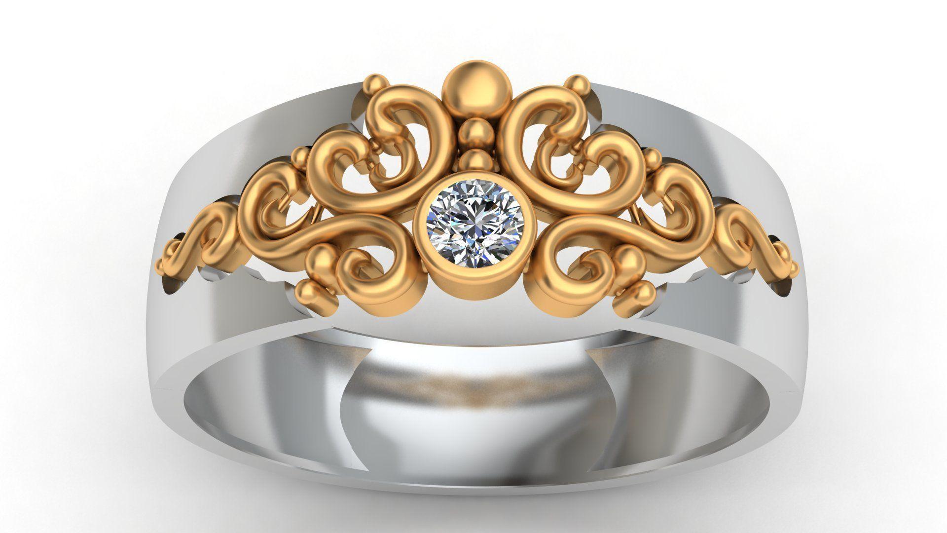Versal Engagement Diamond Gold Ring