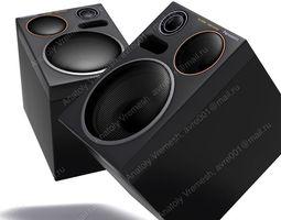Sound column Panasonic 3D model rigged