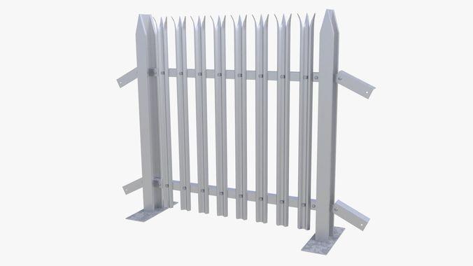 collapsible fence 3d model max obj fbx stl blend dae 1