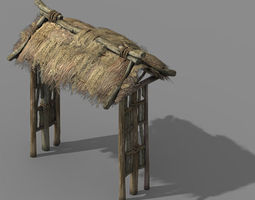 Fairy Mountains - straw gate 03 exterior 3D