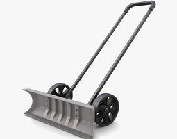 3D Wheeled Snow Shovel model