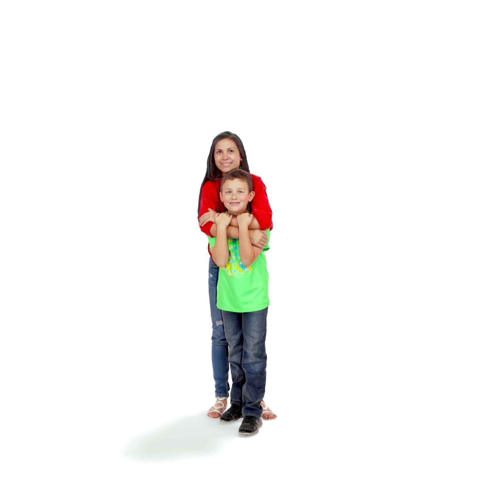 Standing Woman Hugging a Boy CFam0202-HD2-O01P01-S