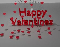 3D model Happy Valentines day