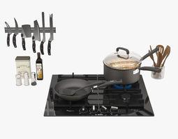 Kitchen Set 02 3D