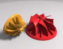 Compressor Impeller 3D printable model