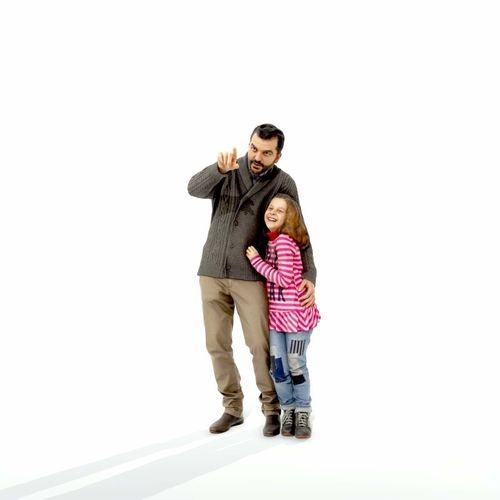 man showing something to little girl cfam0001-hd2-o01p01-s 3d model max obj mtl c4d 1