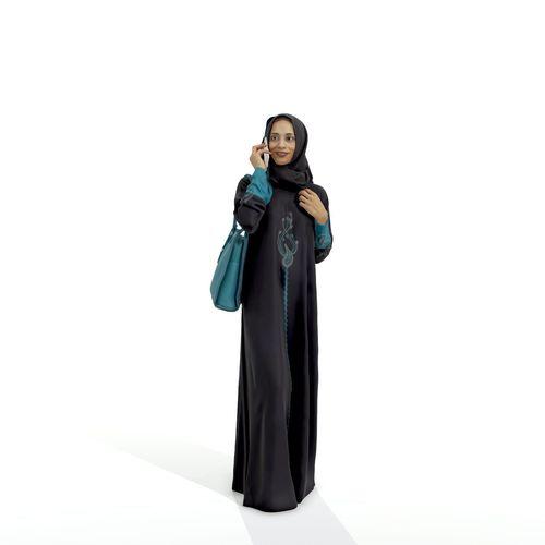 arabic woman talking on the phone arwom0004-hd2-o01p02-s 3d model max obj mtl c4d tga 1