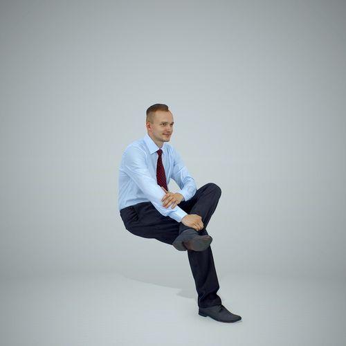 sitting business man wearing red tie bman0307-hd2-o01p01-s 3d model max obj mtl c4d tga 1