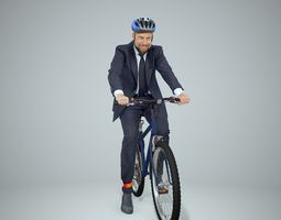 Cycling Business Man with Helmet BMan0306-HD2-O01P01-S 3D