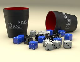 Dice and Cup game 3D