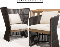 3D model RH Havana Fun and Armchair with Arles Table
