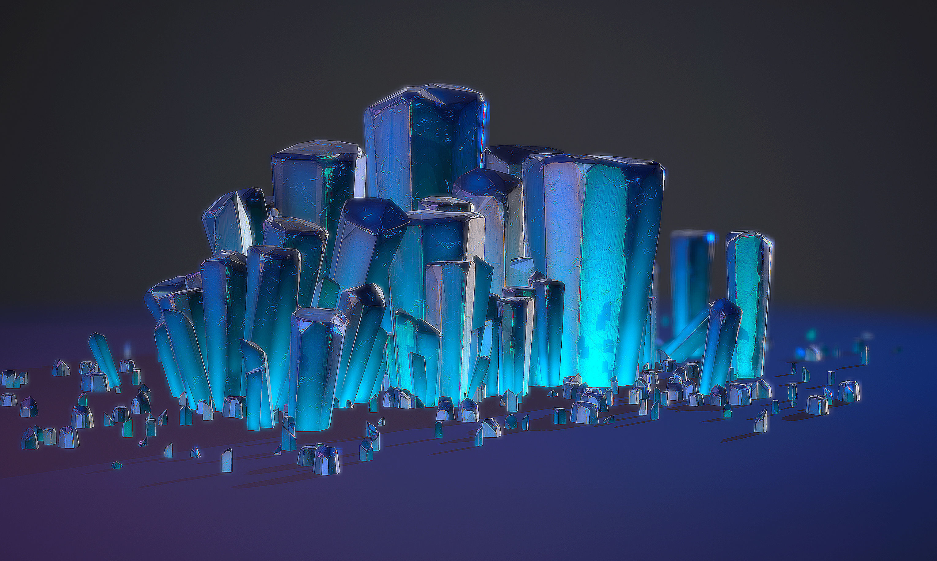 Realtime Crystal environment prop pack