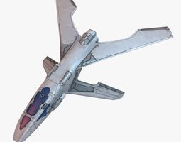 Winged Spaceship 3D asset