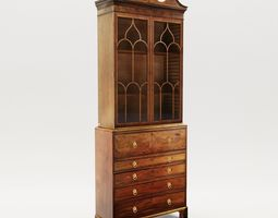 Georgian cabinet - England - 19th 3D model