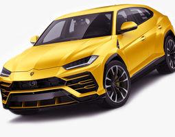 3D Lamborghini Urus 2019