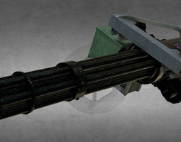 M134 Minigun 3D model military