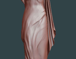 crying woman statue 3D printable model