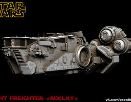 3D Star Wars Light freighter Acklay
