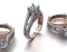 3D printable model diamond fashion ring jewelry design 34