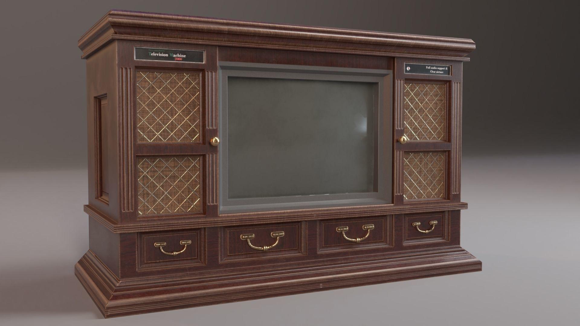 hot sale online b5ede cf5c5 PBR Vintage TV Cabinet | 3D model