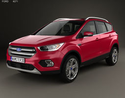 Ford Escape Titanium 2017 3D model