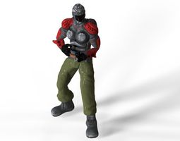 Sci Fi Soldier 2 3D asset animated