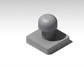 3D print model 4 in x 4in hamburger meat press