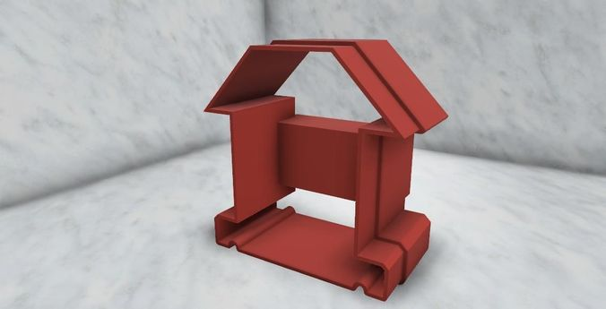 3d Printable Model Tiny House Shape Cookie Cutter