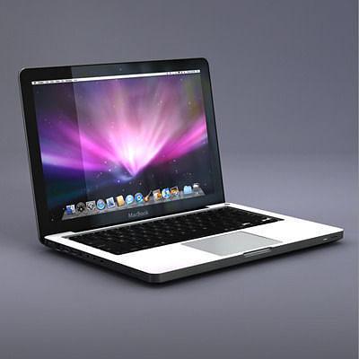 apple macbook laptop 3d model obj mtl 3ds fbx c4d dxf stl 1