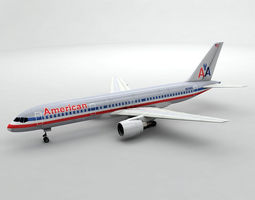 Boeing 757-200 Airliner - American Airlines 3D asset