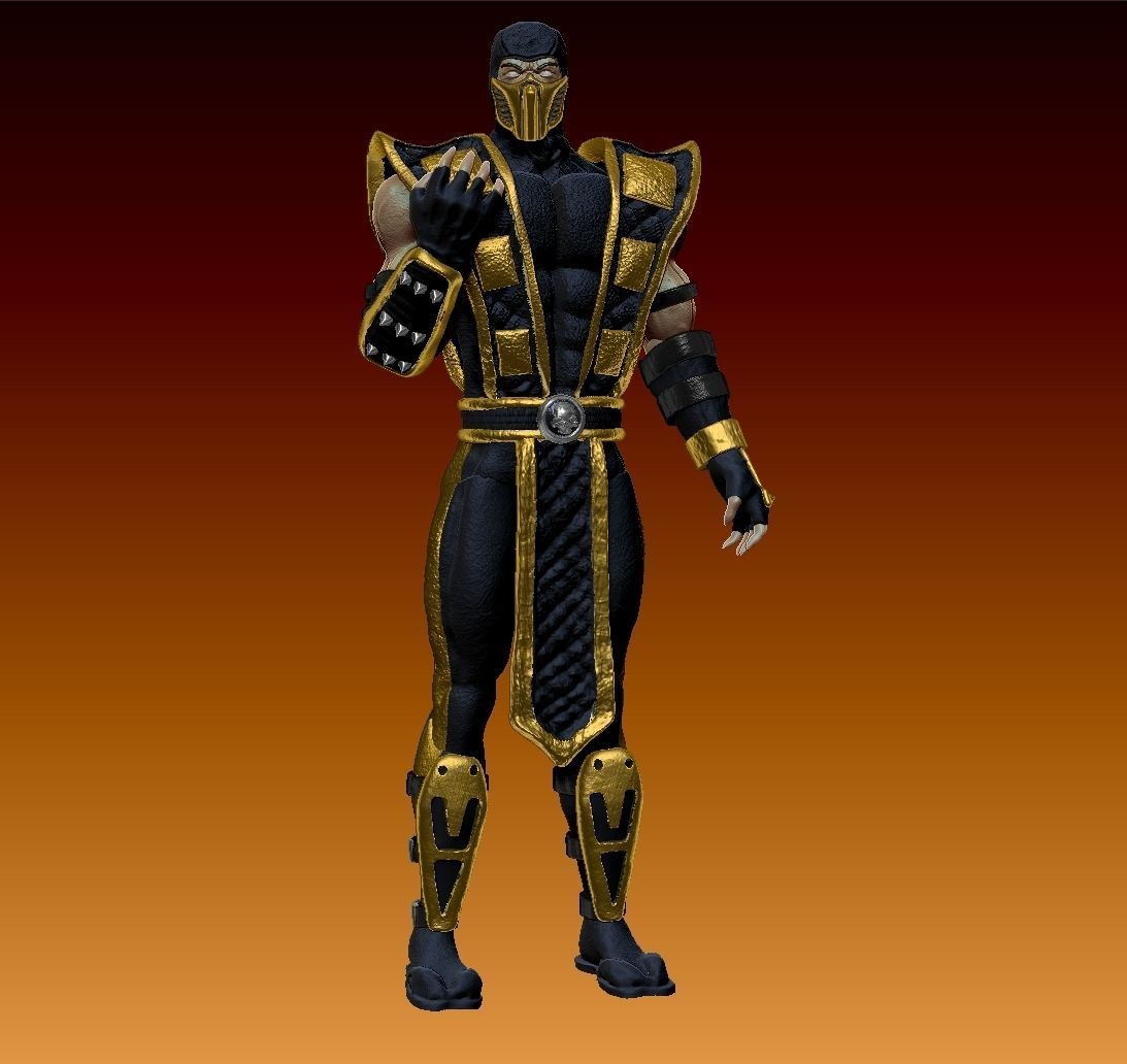 3d model mortal kombat shaolin monks - scorpion | cgtrader