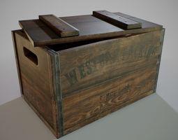 PBR Wooden Crate 3D asset