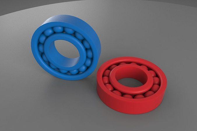 3d printable ball bearing 3d model stl 1