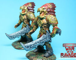3D printable model Xochatl Warrior from War Of The Ravaged