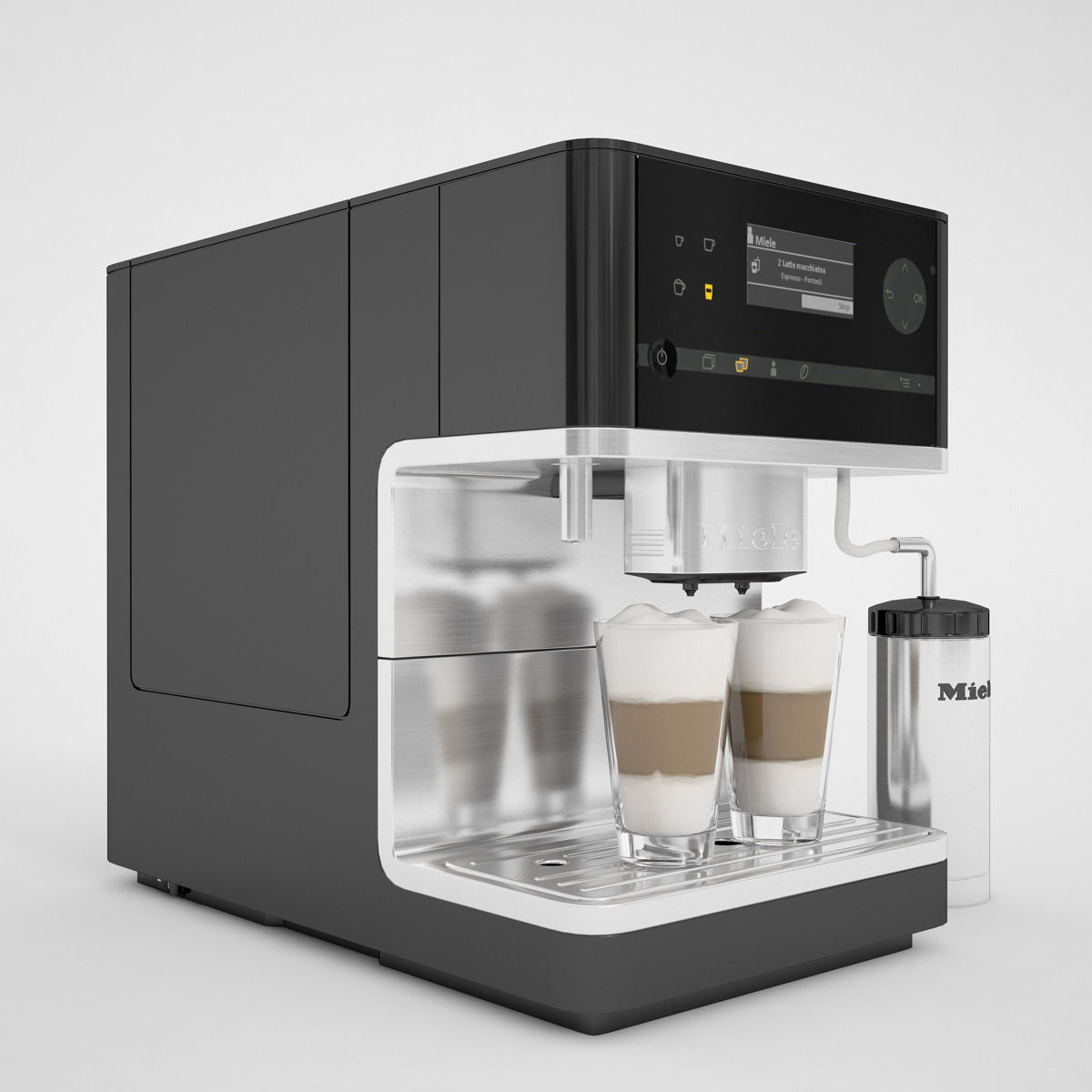 miele cm 6300 coffee machine 3d model max. Black Bedroom Furniture Sets. Home Design Ideas