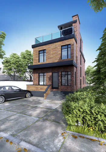 3d Exterior House Designs: Visualization Of A House In A Modern Style 3D