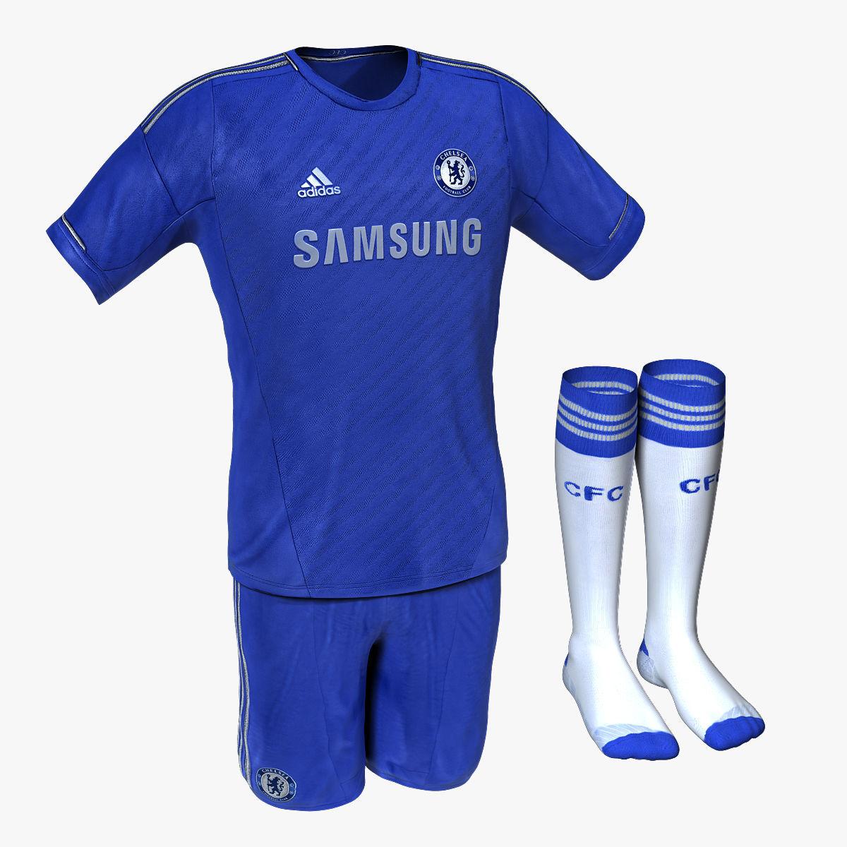 sale retailer e4eed 666a3 Chelsea FC Home Soccer Jersey | 3D model