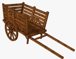 3D model Old-School Wooden Cart