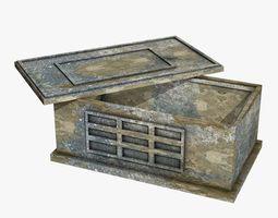 Ancient Stone Chest 3D asset