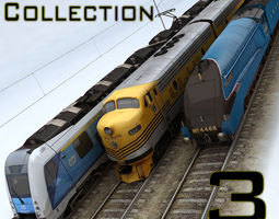 3D asset Trains Collection 3