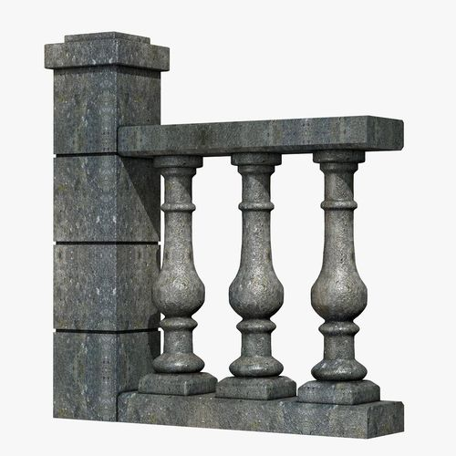 stone baluster 3d model obj mtl 3ds fbx c4d dxf dae 1