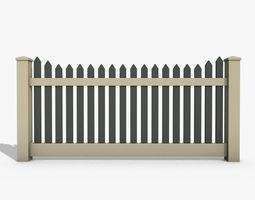 Wooden Fence 3D asset realtime