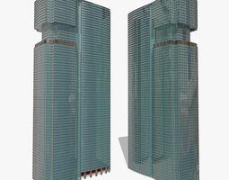 Twins Skyscrapers 3D model