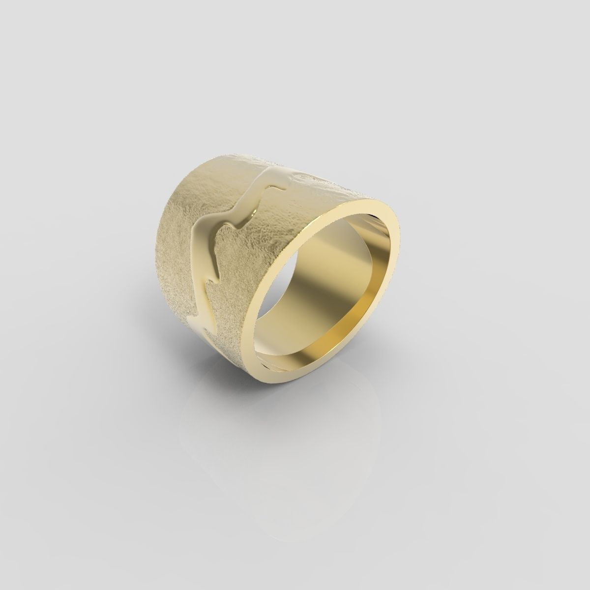 Gold ring 11 3d model 3d printable obj stl cgtradercom for Gold ring models with letters