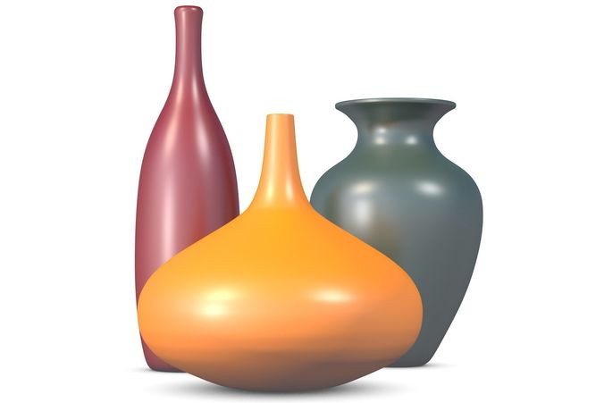 3d Three Vases Cgtrader