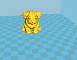 statuette dog 2018 3D print model
